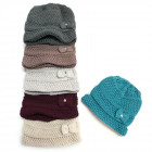 Warm Women Cap, Hat, 2 layers, Bow, 5096