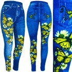 Leggins Women, Jeans with Jets, Butterflies, UNI