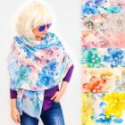 FL680 Umfangreicher Schal, Damenschal, Big Flowers