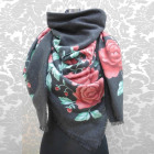 A1818 Large Scarf, Plaid, Tricots chauds, Roses