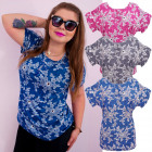 4520 Loose Blouse, Tunic, Plus Size, Flowers