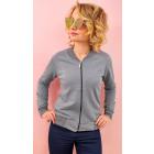 R38 Women Jacket, Bomber Style, Autumn Gray