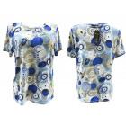 Women Shirt, Blouse, Plus Size, L-4XL Wheels, 5414