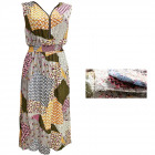 Summer Dress with a zipper, Patterns, M-2XL, 6534
