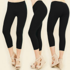 4514 Bamboo Women Leggings 3/4, Only Black