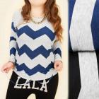 C11380 Blouse, Tunic, Zigzag Pattern, Large Sizes