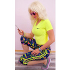 4281 Leggings Fitness Bamboo Fiber, Neon Stripe