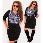 4404 Elegant pencil dress, zebra pattern
