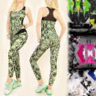 FL501 Sport Set Top + Leggings, Design alla moda