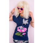 K524 Loose Blouse, Cotton Top Shirt with Butterfly