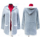 Fluffy Christmas Cardigan With Hood, M-2XL, 5140