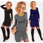 D1478 Lace Winter Dress, Cashmere