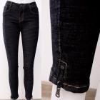 B16841 Klassische Damenhose, Jeans mit Schieberegl