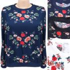 Damen Sweatshirt M-2XL, Blumenwiese, 5602