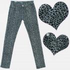 A19151 Mädchenhose aus Baumwolle mit grauem Leopar
