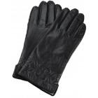Women's leather gloves black