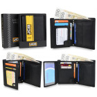Elegant men's wallet + JCB54 RFID box