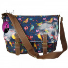CB159 Birds LACQUERED A4 Large BAG Womens