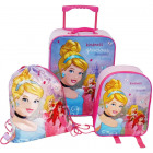 Set: Suitcase + backpack + 3 in 1 bag
