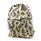 Plecak damski A4 BP241 Motyle beżowe