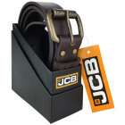 A thick men's leather belt from JCB JCB4 Brown