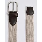 M & S Men's belt elastic beige trousers