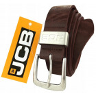 Thick brown leather belt JCB1
