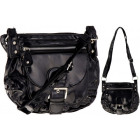 Women's handbag Black patent lacquered A11