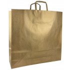 Large capacious XL paper bag for gold gifts