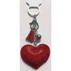Modny brelok zawieszka do kluczy, do torebki serce