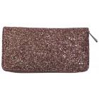 Women's wallet clutch bag with PS186 brocade