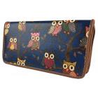 PS81 Oil Owls Glitter Elegant Women's Wallet
