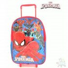 Suitcase with Spiderman wheels