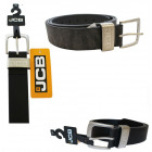A thick JCB1 men's leather belt in black