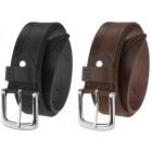 Elegant men's leather belt BT12