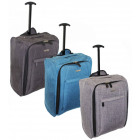 TB05 Tweed Travel Suitcase On Wheels