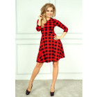 Flared dress - red checkered