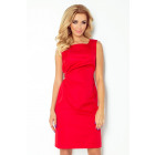 126-5 MEMORY - dress with binding - red