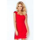 Dress with a nice neckline - RED