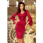 234-1 Lace dress with flared sleeve