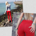 Leggings PUSH UP produceny, quality, red