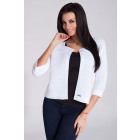 Knitted jacket, sweater, quality, white
