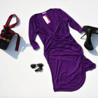Vestido, ligero, aireado, femenino, morado
