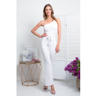 Coverall, binding, DE LUX, summer, white