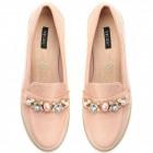 Zapatos, mocasines, ante, de color rosa