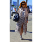 Long coat with tassels, cardigan, capuccino