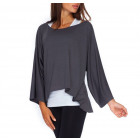 Loose blouse, oversize, quality, graphite S / ML /