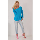 Spring sweater, producer, blue