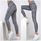 Melange leggings gaiter pockets
