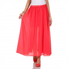 Skirt airy, summer, red, unisize